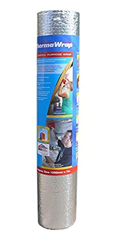 Thermawrap 1050mm x 7m x 3.77mm General Purpose Wrap Easy Fit General Purpose Insulation for Wall and Floor