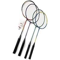 Gewicht: 100g // passend f/ür Anf/änger und Gelegenheitsspieler 66 cm Rayline Sport Serie Gesamtl/änge: ca Badminton Schl/äger BD001 f/ür Erwachsene Farbe: Silber//Braun