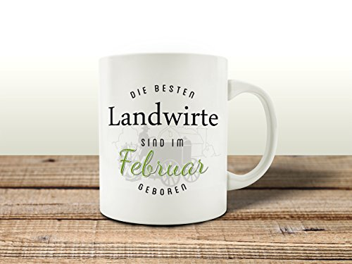 Interluxe Tasse Kaffeebecher DIE Besten Landwirte Februar Bauer Geburtstagsgeschenk Landwirt...