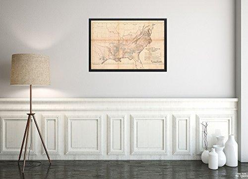 New York Map Company () 1861 Karte USA The Cotton Kingdom Its Dependencies in America Zeigt Dominant Subo, Historischer Antik-Vintage-Stil, Nachdruck, fertig zum Einrahmen