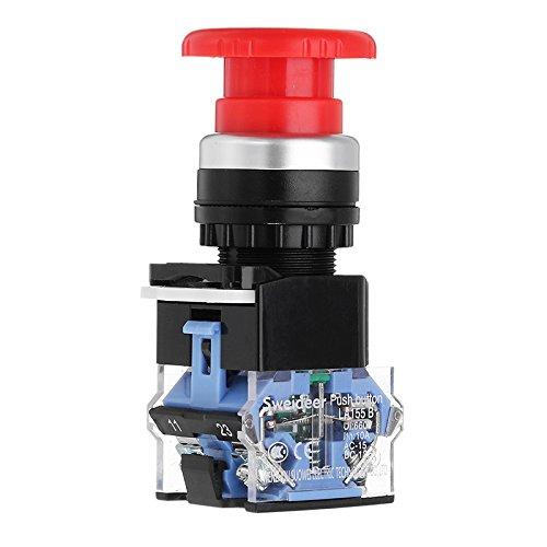 Power-pilze (KUNSE 22Mm Selbst Verriegelungsknopf Power Pilz Runde Notstopp-Schalter)