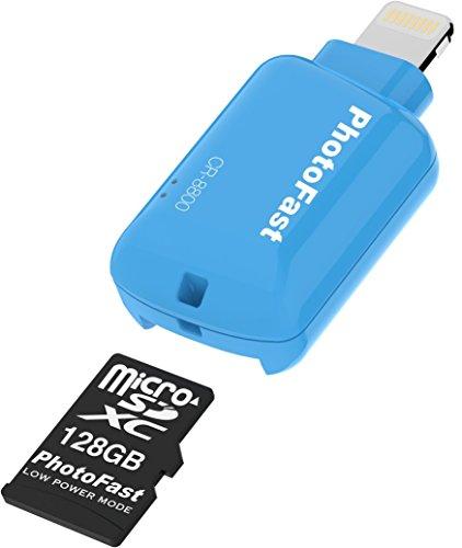 PhotoFast CR8800B128GB Micro SD Kartenlesegerät für Apple iPhone und iPad blau