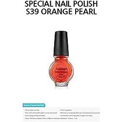 Esmalte Especial Konad Orange Pearl G39, 11ml para Estampar. Stamping Nail Art