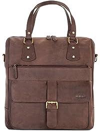 LEABAGS Fremont sac à main rétro-vintage en véritable cuir de buffle