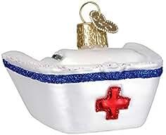Viejo Mundo Navidad adorno de tapa de cristal soplado de la enfermera por viejo mundo Navidad