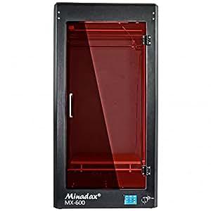 Minadax® MX-600 geschlossener 3D Drucker mit 60cm Druckhoehe in Metall mit Tuer - kompatibel zu PLA, ABS, PVA, HIPS uvm