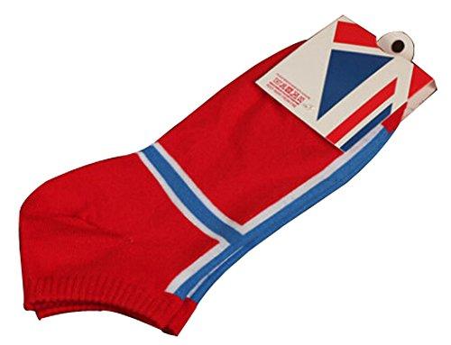 Lot de 2 Flag chaussettes en coton chaussettes pour hommes Norvège