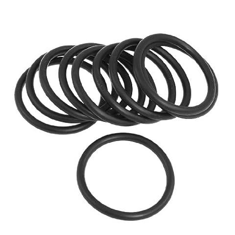10pcs Noir Caoutchouc nitrile NBR O anneaux Seal Oeillets 48mm x 58mm x 5mm