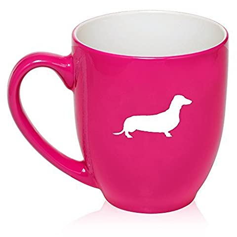 16 oz Hot Pink Large Bistro Mug Ceramic Coffee Tea