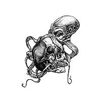 Waterproof Fashion Temporary Tattoo Sticker Octopus Skull