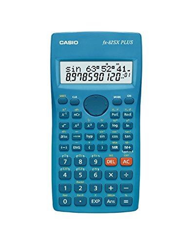 CASIO FX-82SXPLUS-S-EH - Calculadora científica, 19.5 x 78 x 155 mm, azul