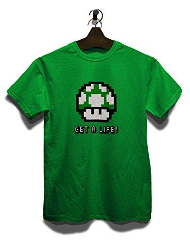 Get A Life Mushroom T-Shirt Grün