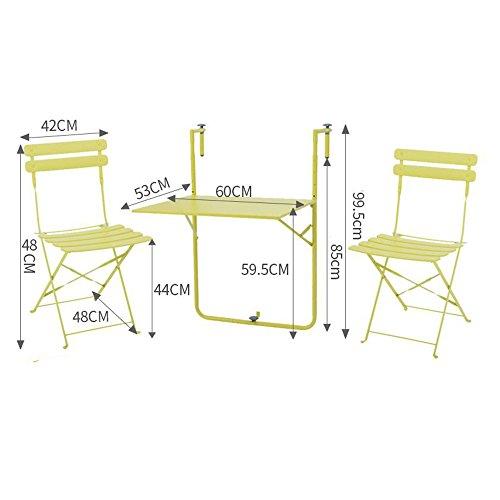 FUFU Montage mural Tables et chaises de balcon Table de terrasse pliante Rampes de table murale pliante pour balcon en plein air Table de suspension Table à feuilles mobiles