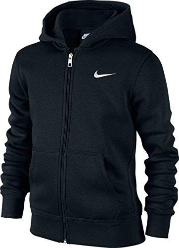Foto de Nike 619069-010 - Sudadera con capucha para niños, color Negro (Black/White), talla M (talla del fabricante: 10-12 años/137-147 cm)