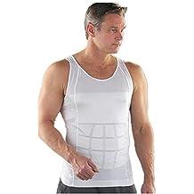 ZURU Bunch Slimming Tummy Tucker Slim & Lift Body Shaper Vest/Men's Undershirt Vest to Look Slim Instantly :-White Color