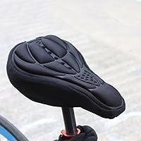 Ciclismo bicicleta 3d gel de silicona almohadilla sillín cubierta cojín suave para bicicleta de montaña al aire libre Ciclismo, negro
