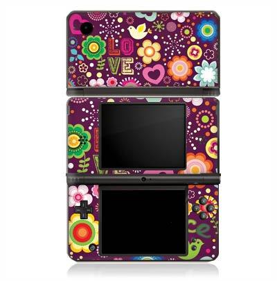 Nintendo DSi XL Case Skin Sticker aus Vinyl-Folie Aufkleber Love 60s Hippie Bunt