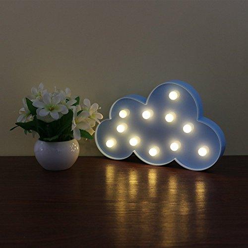 JYSPORT LED Einhorn Nachtlichter Kinderzimmer Stimmungslicht Unicorn Lampen Nacht Licht Baby \ Children's Room Dekorationen (Clouds blue)