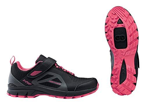 Northwave Escape Evo Damen MTB Trekking Fahrrad Schuhe schwarz/pink: Größe: 38