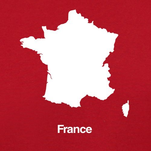 France / Frankreich Silhouette - Herren T-Shirt - 13 Farben Rot