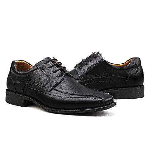Derby Leder Schuhe 2 Herren Shenji Schnürhalbschuhe Schwarz K8901 AZ5qS6