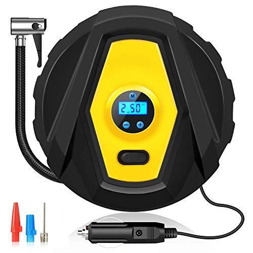 Basage Digitales Manometer mit Automatischer Zeitsteuerung und LED-Licht, 3 DüSen und für Hohen Luft Durch Satz, für Autos/Motorr?Der/Fahrrad Reifen