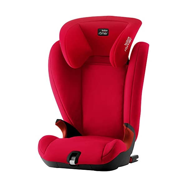 Britax Römer KIDFIX SL Black Series Group 2-3 (15-36kg) Car Seat - Fire Red Britax Römer High back booster protection Easy adjustable, ergonomic headrest Adjustable v-shaped backrest 1