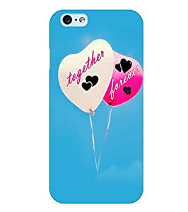 Citydreamz Together Forever\Love\Hearts Hard Polycarbonate Designer Back Case Cover For Apple Iphone 6 Plus/ 6S Plus
