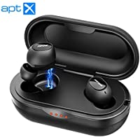 Wireless Earphones, Mpow T5/M5 True Wireless Headphones Featured Aptx 6D Bass Stereo Sound/Up To 42H playtime/CVC8.0/IPX7/2 Modes, TWS Bluetooth Earphones, Wireless Earbuds with Charging Case with Mic