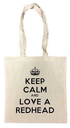 keep-calm-and-love-a-redhead-bolsa-de-compras-de-algodon-reutilizable-cotton-shopping-bag-reusable
