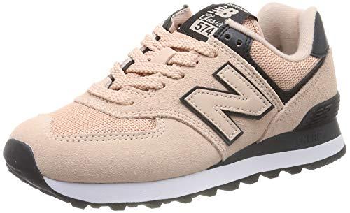 New Balance Damen 574v2 Sneaker, Pink (Pink/Black Pink/Black), 39 EU