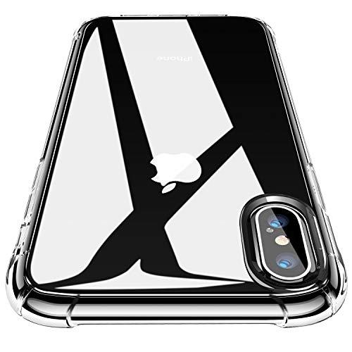 CANSHN iPhone XS Hülle, iPhone X Hülle, Hochwertig Transparent Weiche Durchsichtig Dünn Handyhülle mit TPU Stoßfest Fallschutz Bumper Case Cover für Apple iPhone XS 5.8'' - Klar