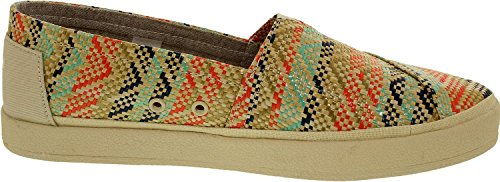 Toms Femmes Avalon Slip Sur Multi-cheville Marocaine Chaussure Plate  Naturelle Multi ...