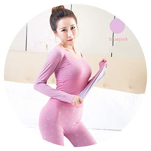 Thermo-Unterwäsche für Damen, sexy, Thermounterwäsche, Set für Damen, warm - rosa - Einheitsgröße