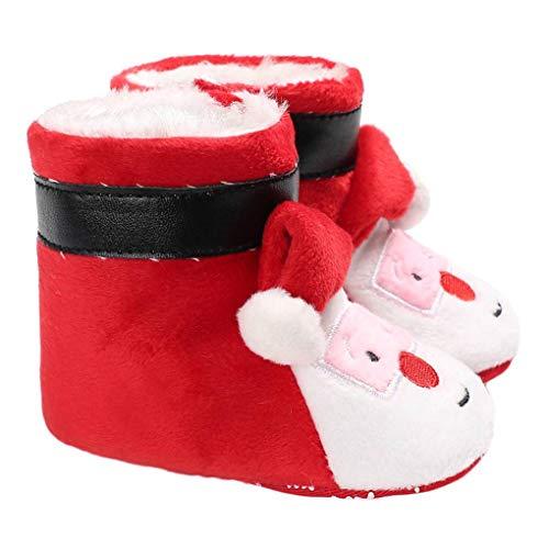 Vkospy Infantil bebé Invierno Navidad Santa Botines