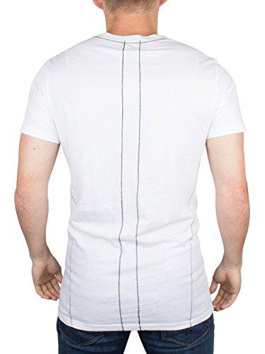 Religion Herren Beten Skeleton-Flaggen-Grafik-T-Shirt, Weiß Weiß