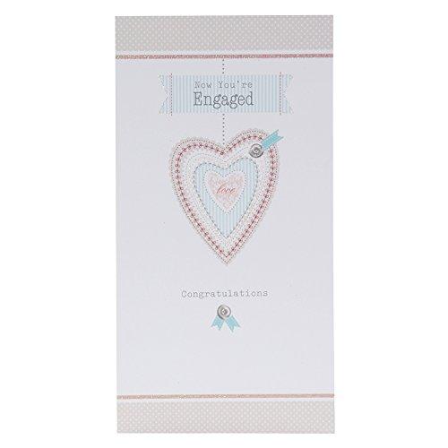 Hallmark Verlobungskarte Big News, englischer Text–mittelgroß, Medium Slim (Ornament Hallmark Zeit)