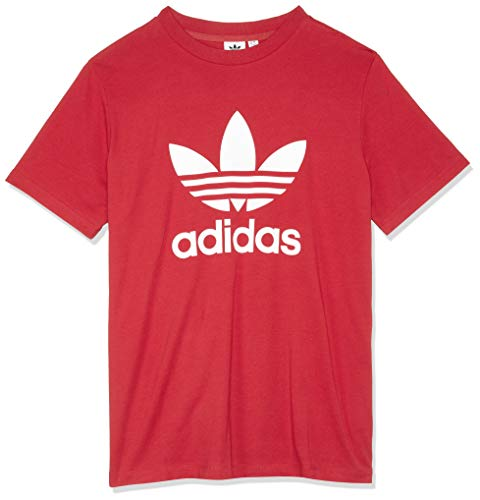Adidas trefoil, t-shirt donna, real red, 38