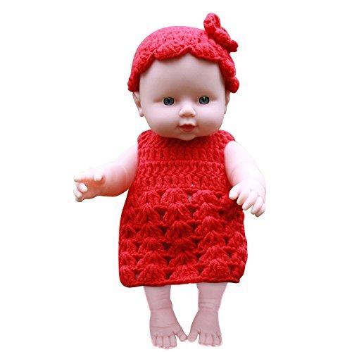 TianranRT Kinder \' Simulation Baby Baby Baby Emuliert Puppe Weich Kinder Reborn Baby Puppe Spielzeug Junge Mädchen Geburtstag Geschenk RD (Rot)
