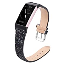 ‏‪Amaae Replacing The Flash Leather Strap With A Wrist Strap For Fitbit Charge3(Color:Black; Material:hemp rope)‬‏