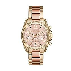 Michael Kors Blair Analog Rose Gold Dial Womens Watch-MK6316