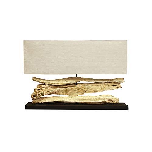 Große Design Treibholz Lampe RIVERINE beige - Handarbeit