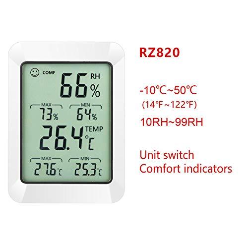 Elegantes digitales LCD-Thermometer, Hygrometer, elektronischer Temperatur, Luftfeuchtigkeit, Wetterstation, für Innen- und Außenbereich