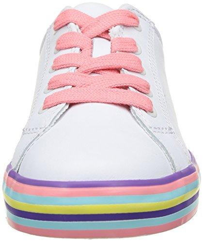 Clarks Brill Cali, Baskets mode fille Blanc (White)