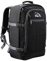 Cabin Max Metz Extra mochila equipaje de mano aprobado para vuelos 55x40x20cm (negro/gris)