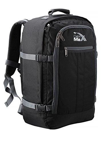 Cabin Max Metz zusätzlichen Flug genehmigten Handgepäck Rucksack 55x40x20cm (schwarz/grau)