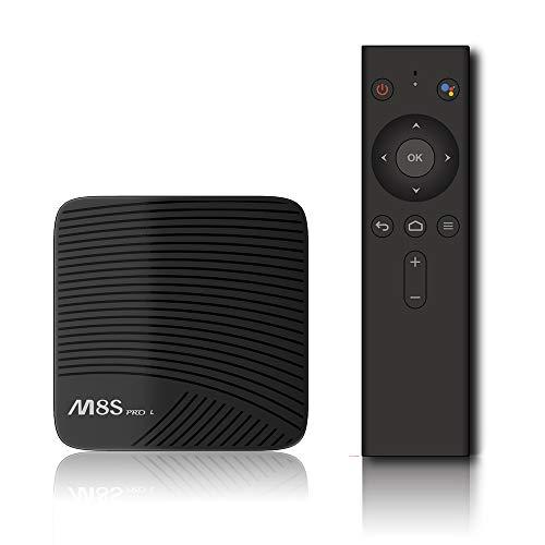 Gamogo MECOOL M8S PRO L ATV Smart-Android-TV 7,1 TV-Box mit 2,4 G BT-Sprach-IR-Fernbedienung Amlogic S912 Octa-Core 64-Bit-3-GB- / 16-GB-Dualband-WLAN-BT4.1-HD-Media-Player EU-Stecker