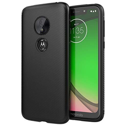 MoKo Kompatibel für Motorola Moto G7 Play Hülle, leichte stoßfeste Schutzhülle, TPU Stoßkante Twill Cover Geeigent für Motorola Moto G7 Play 5.7