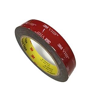 3M VHB 5952 5 Meter (19mm x 5m), schwarz, doppelseitiges Hochleistungsklebeband, für dauerhaft starke Verbindungen im Innen- und Außenbereich.