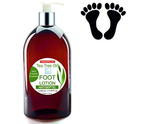 Crema di piedi Ultra Idratante terapeutica con olio di albero di tè Purificante Anti Hongos 500ml-Deodorante Piedi